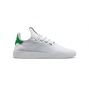 Кроссовки Adidas x Pharrell Williams Tennis Hu Primeknit арт. 902 белый/зеленый (White/Green)