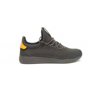 Кроссовки Adidas x Pharrell Williams Tennis Hu Primeknit арт. 903 черный/оранжевый (Black/Orange)